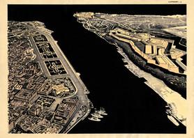 La Habana Arqueologica. Canal de entrada de la bahía. La Habana 1930