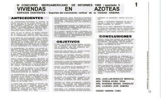 Viviendas en azoteas. La Habana. 1988