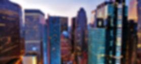Wolkenkratzer über den Times Square an d