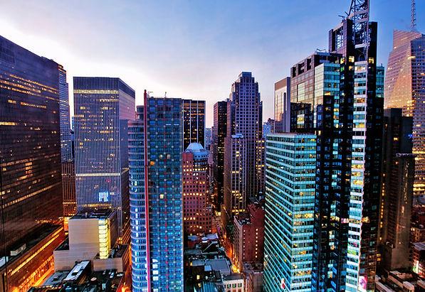 Grattacieli Sopra Times Square at Dawn