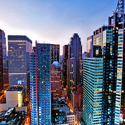 skyscrappers in big city