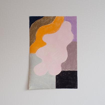 'Float' original pastel drawing