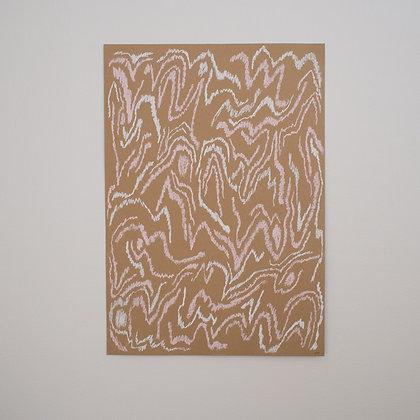 'Lines' original pastel drawing
