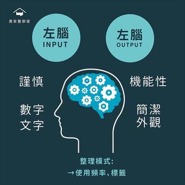 收納知識|左右腦大不同!不同思考類型的行為分析