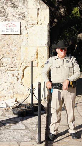 Sheriff utside The Alamo Mission San Antonio