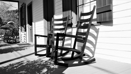 Rocking chairs on porch, St. Francisville