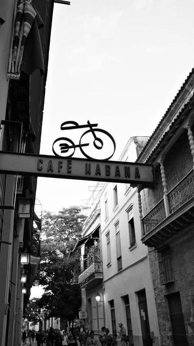 Cafe Habana Sign, Havana, Cuba