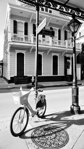 Bicycle Shadow, Evening Light New Orleans