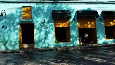 """""""The Pearl Of Cuba"""", colourful buildings, street corner, Camagüey, Cuba"""