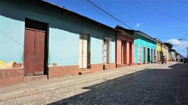 Colourful Cuban houses, Trinidad, Cuba