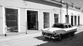 Cuban vintage car, Trinidad, Cuba
