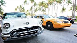 Vintage Car, South Beach, Miami