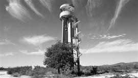 Abandoned concrete lookout tower, Trinidad, Cuba