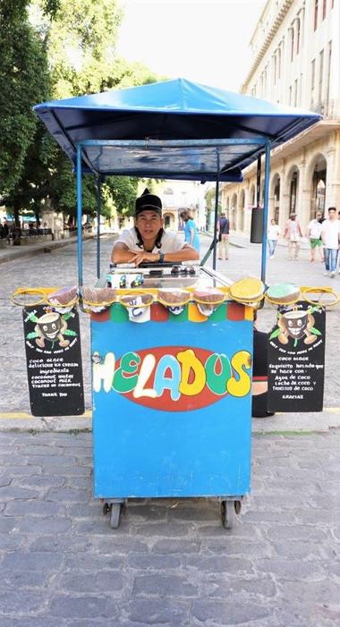Ice Cream Street Vendor, Havana, Cuba