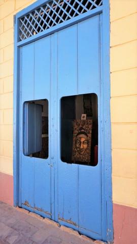 Art Gallery doorway, beautiful colours, Trinidad, Cuba