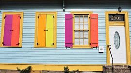 Colourful Window Shutters, New Orleans