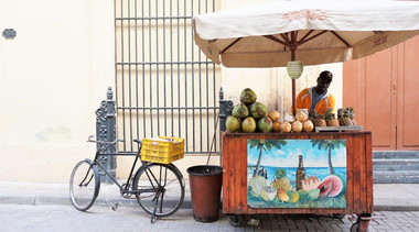 Street vegetable vendor, Havana, Cuba