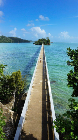 "Samana Bridge ""bridge to nowhere"" Samana Dominican Republic."