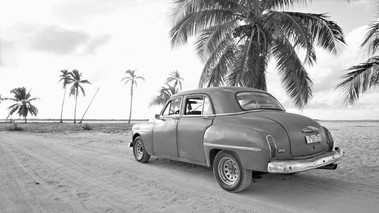 Cuban Vintage Car, La Boca Beach, Cuba