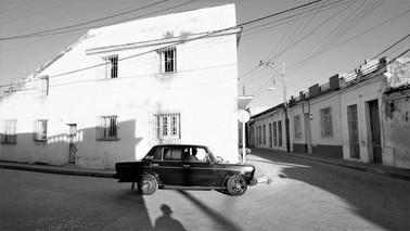 Cuban Vintage Car, Street Corner, Camagüey, Cuba