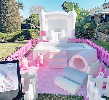 White toddler castle