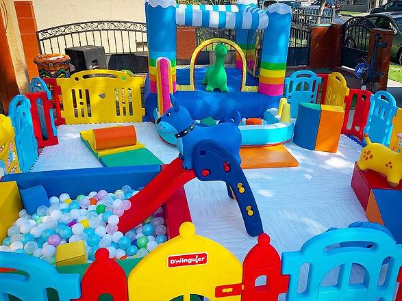 magical rainbow bounce house