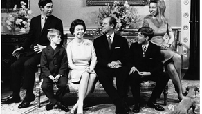 The Queen and The Duke of Edinburgh celebrating their Silver Wedding Anniversary