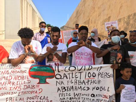 Malta-based Ethiopian activists call for international support