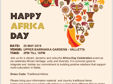Celebrating the Africa Day in Malta.