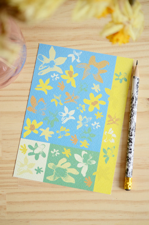 Carte Postale_Jonquilles Géométrique