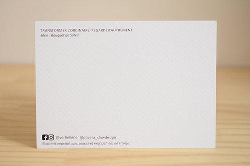Carte Postale_Jonquilles dans la verdure