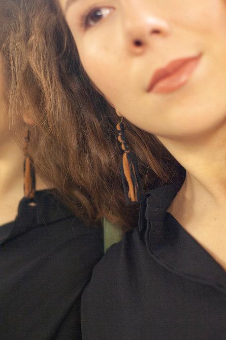Boucles d'Oreilles Linea Bicolores