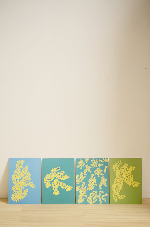Carte Postale_Mimosa Vert Olive