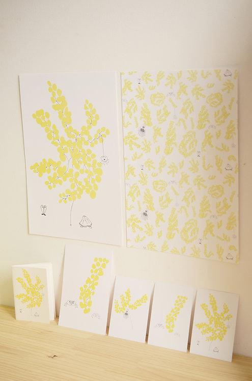 Affiche A3_Mimosa & 3 Petites Créatures