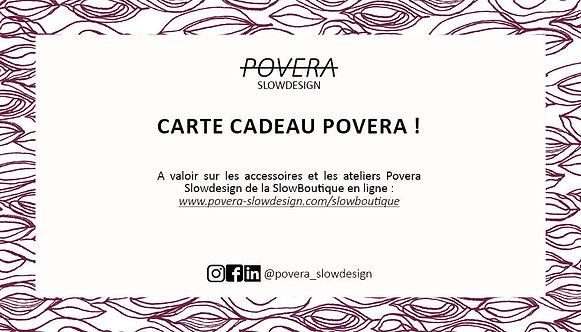 Carte Cadeau Povera 15 Euros