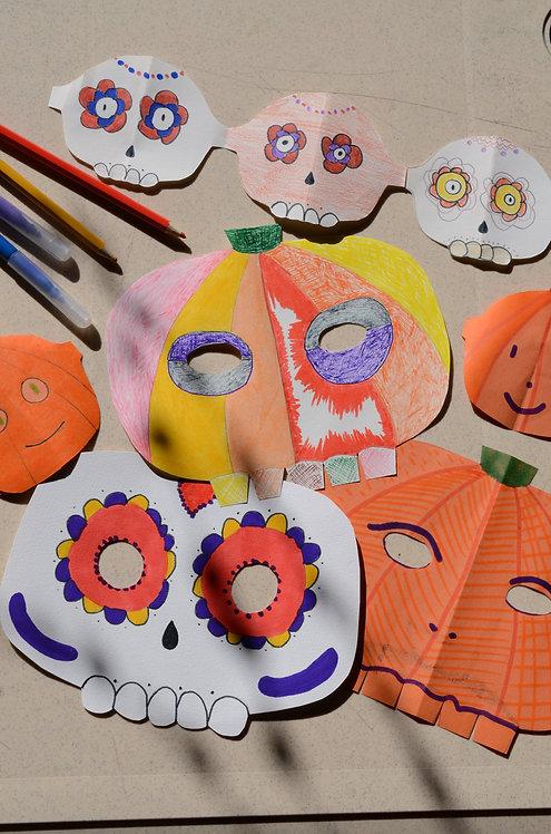 Atelier Enfant : Masque et Guirlande d'Halloween chez MarjoGreen