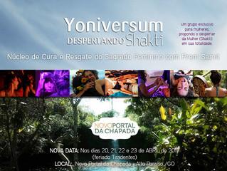 Yoniversum no Novo Portal da Chapada 28 de Abril à 1 de Maio - Feriado - Alto Paraíso GO