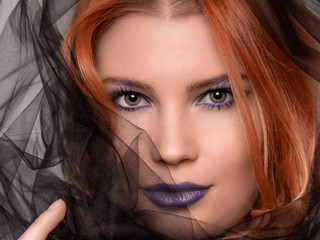 Beauty Photography in Purple