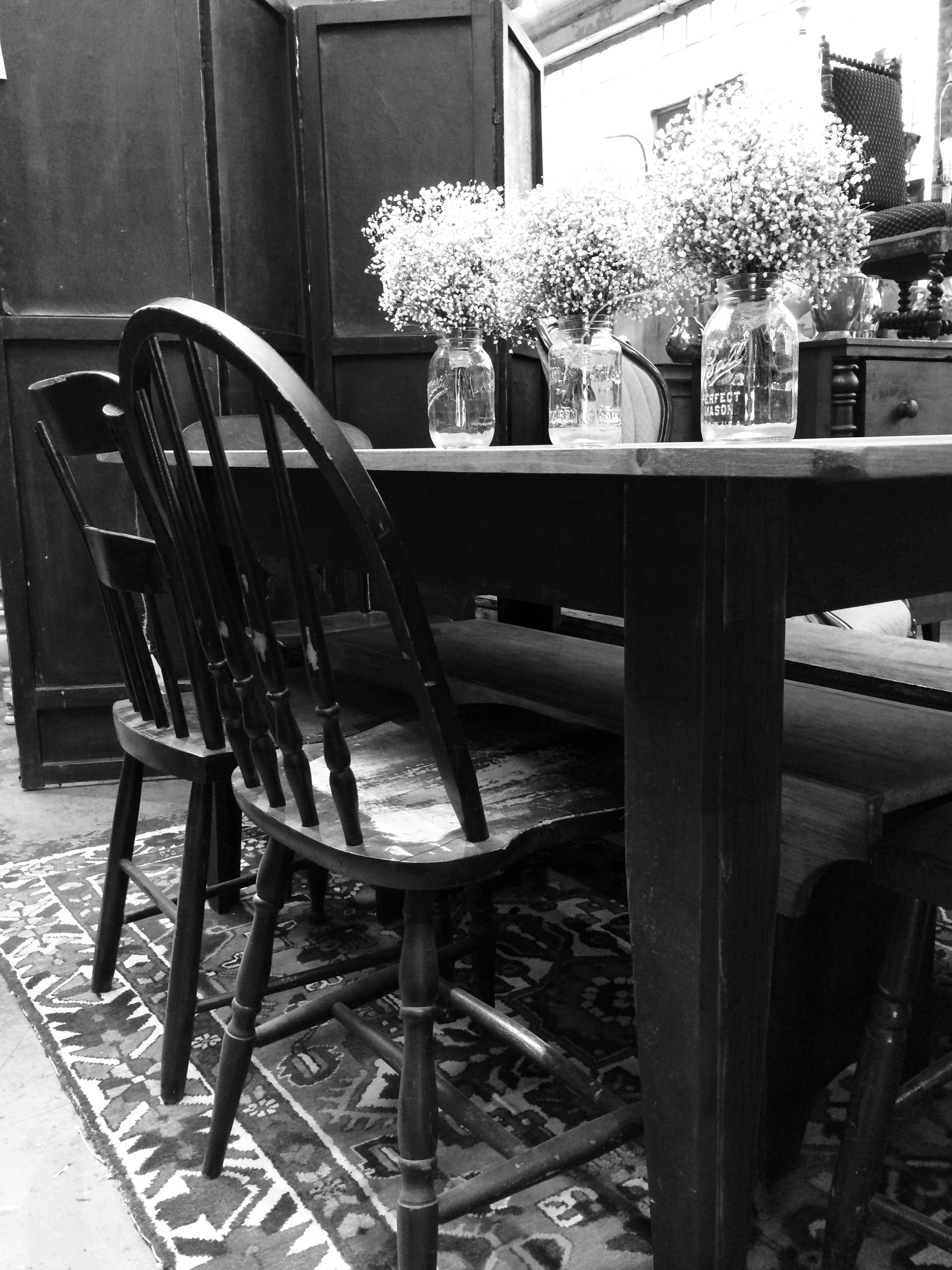 Farm Table and Chairs