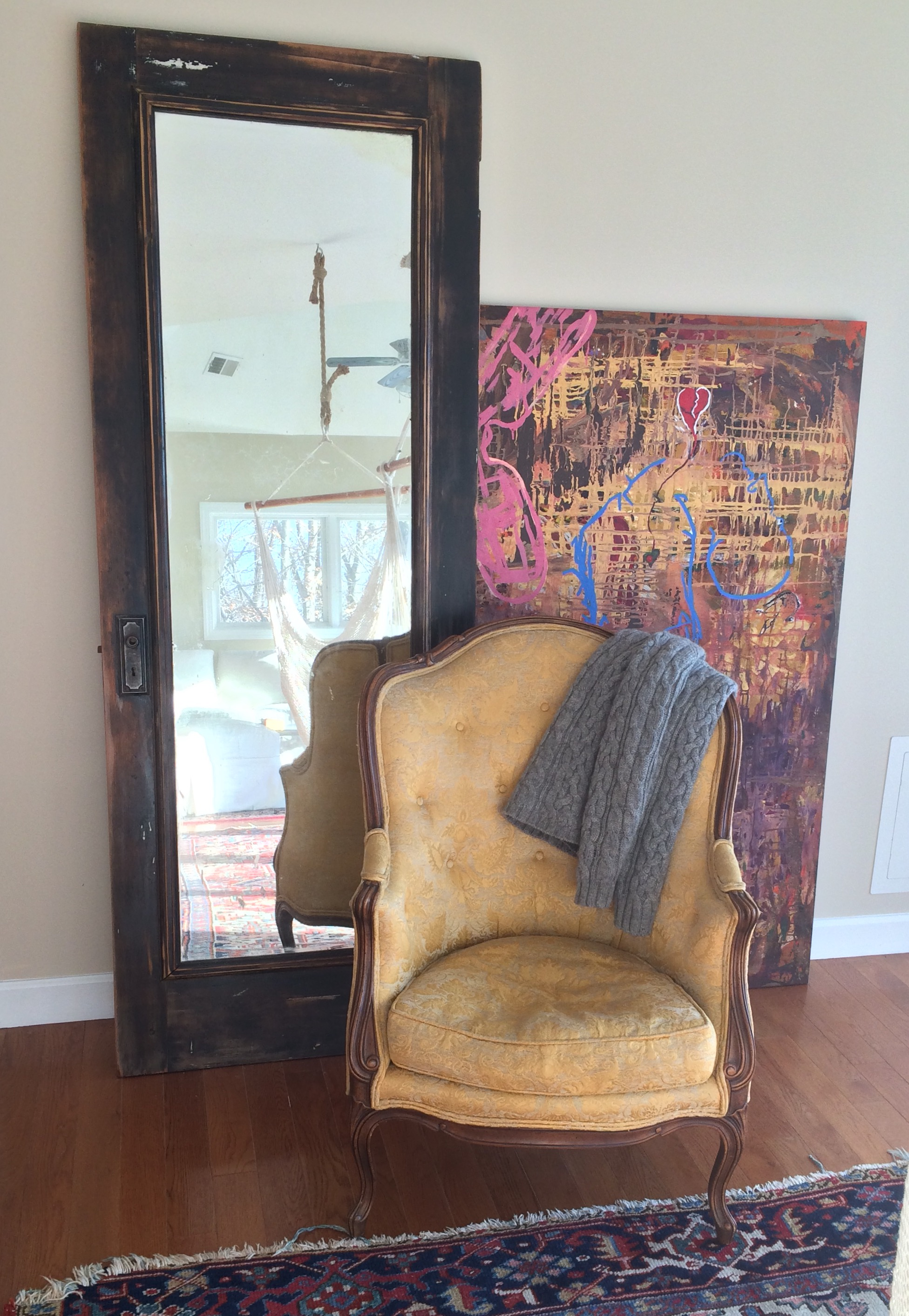 Item: Antique parlor chair