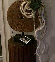 Antique Wheel; Mid-century Plant Stand : NW DC
