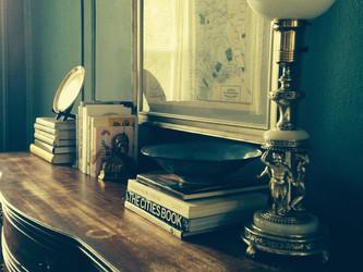 Cherub Lamp & Art Deco Bookends: Petworth, Washington, DC