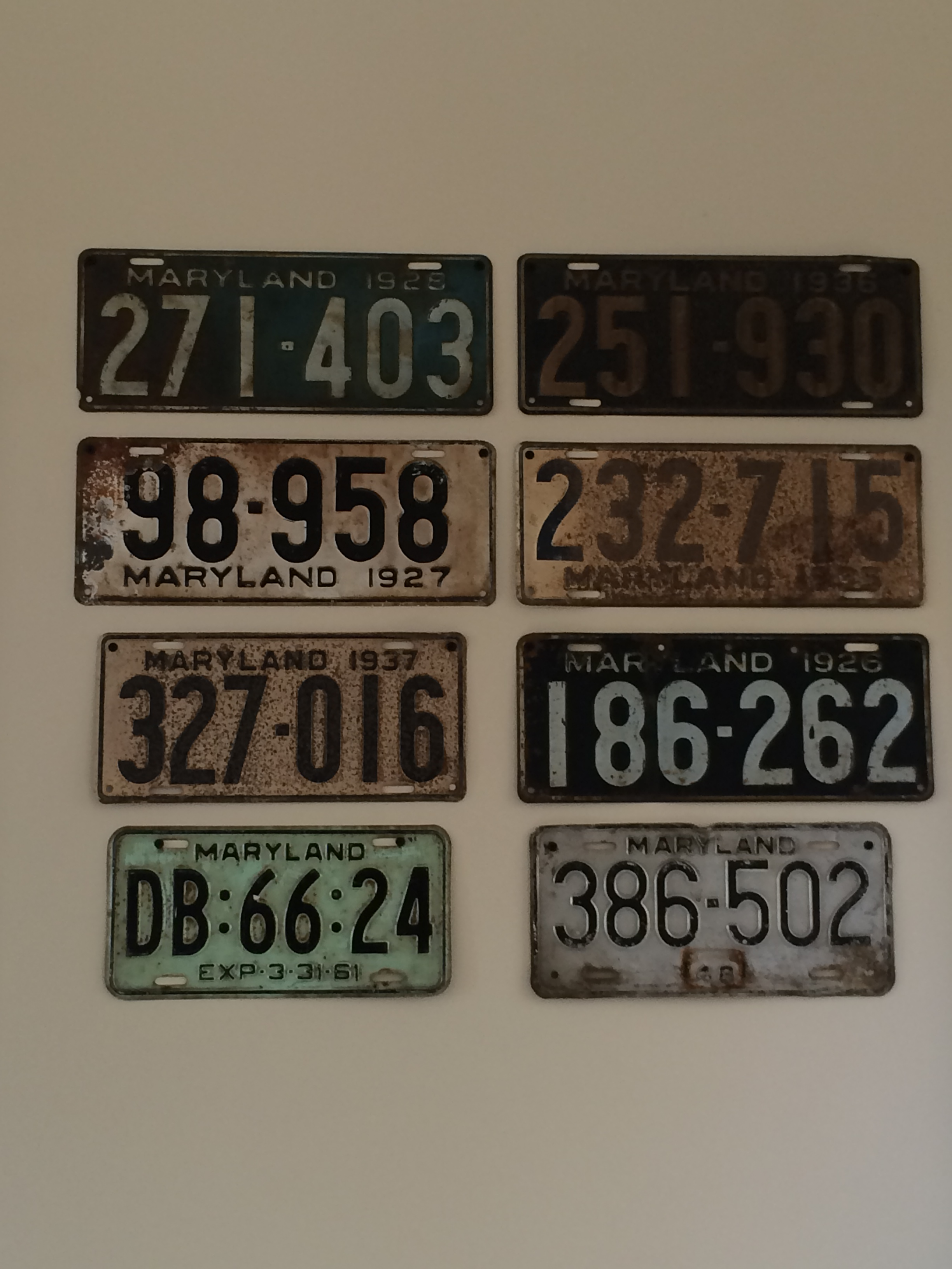 Item: Expired license plates