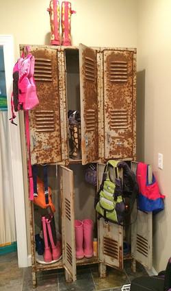 Item: Rusty school lockers
