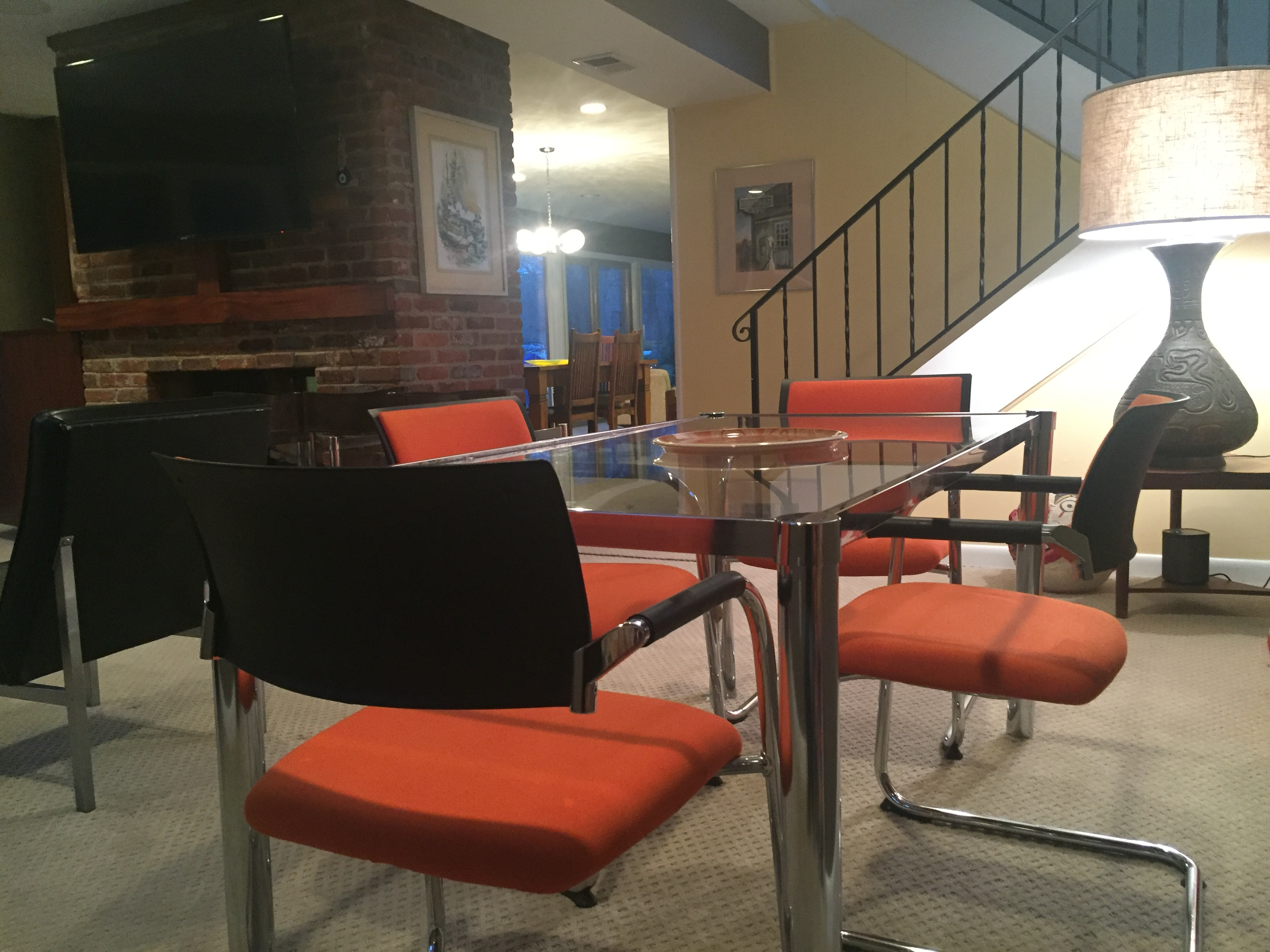 Item: Orange Dauphin chairs