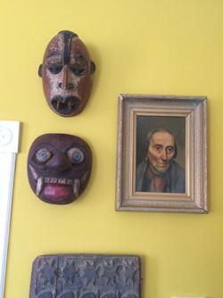 Item: Tribal masks and portrait