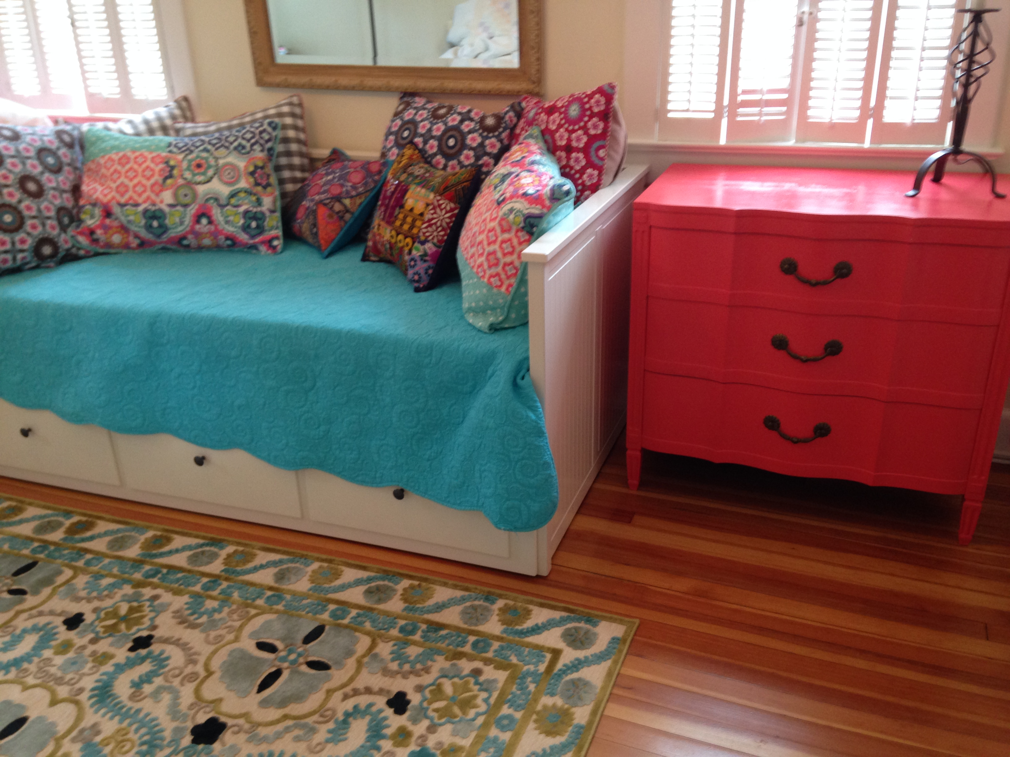 Item: Coral painted dresser