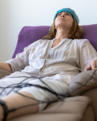 Biofeedback Patient Being Tested by Doct