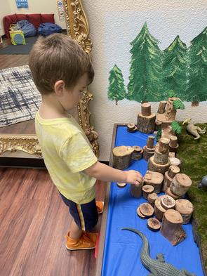 sensory station - wood blocks