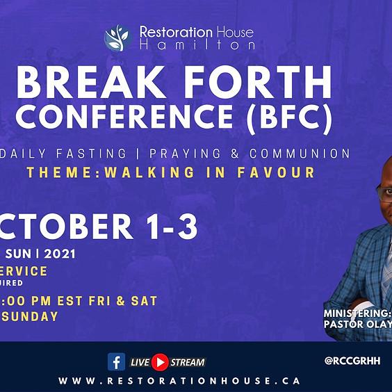 Break Forth Day 1- OCTOBER